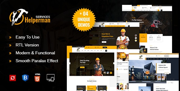 Helperman -  Multipurpose Business HTML Template - Business Corporate