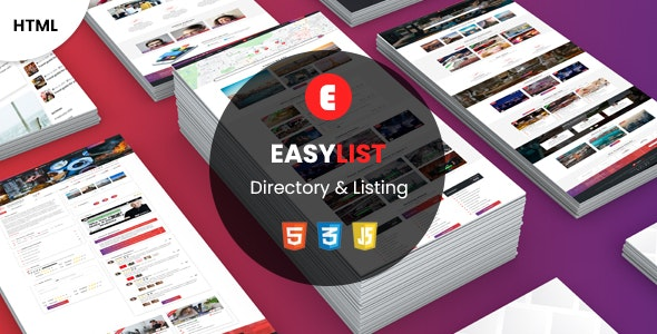 Easy List - Multipurpose Directory Template - Business Corporate