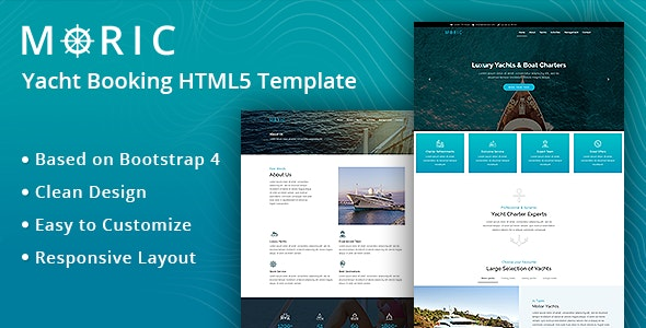 Moric-Yacht Booking HTML5 Template - Business Corporate