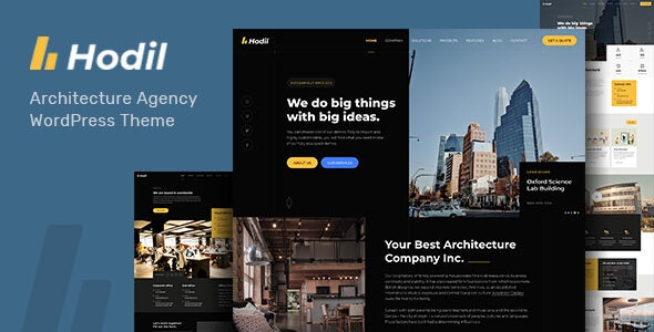 Hodil - Architecture Agency WordPress Theme - Business Corporate