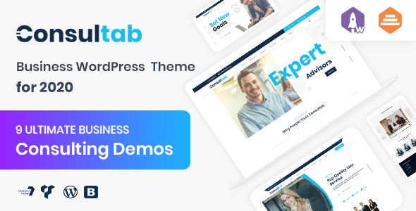 Consultab - Consulting Business & Finance WordPress Theme - Corporate WordPress