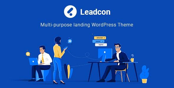 Leadcon -  Multipurpose Landing WordPress Theme - Software Technology