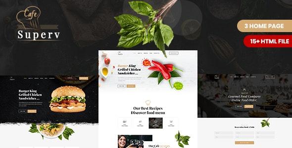 Superv - Restaurant & Cafe HTML Template - Restaurants & Cafes Entertainment