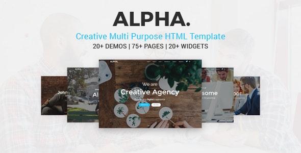 Alpha Dot Multi Purpose HTML5 Template - Corporate Site Templates