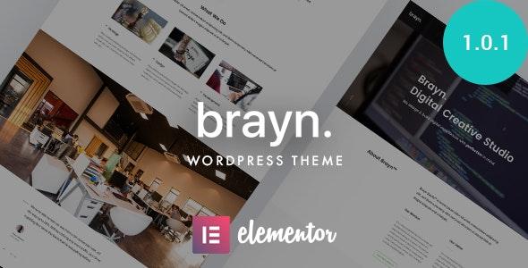 Brayn - Creative Portfolio Elementor WordPress Theme - Creative WordPress