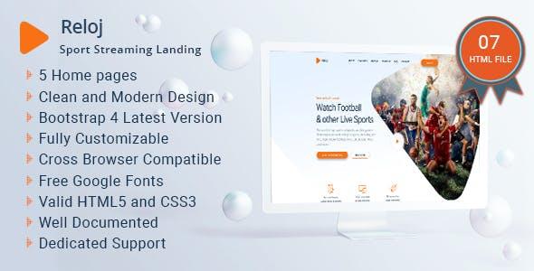 Reloj - Sports Streaming Landing HTML Templates