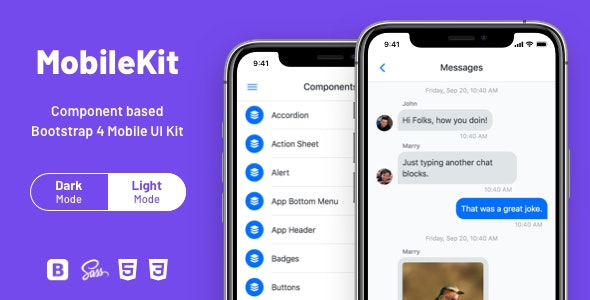 Mobilekit - Bootstrap 4 HTML Application Template - Mobile Site Templates
