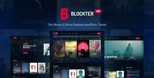 Blockter - Movie & TV Show database WordPress Theme - Film & TV Entertainment