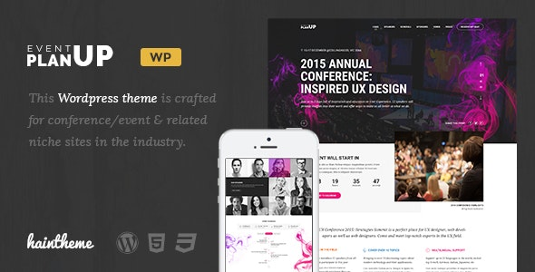 PlanUp - Event Booking WordPress Theme - Events Entertainment