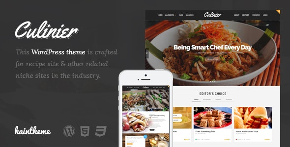 Culinier - Food & Recipe WordPress Theme - Food Retail