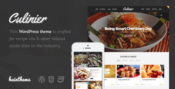 Culinier - Food & Recipe WordPress Theme