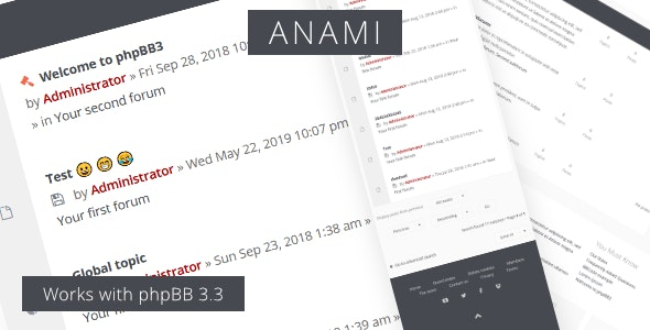 Anami - Responsive phpBB3 Forum Theme - PhpBB Forums