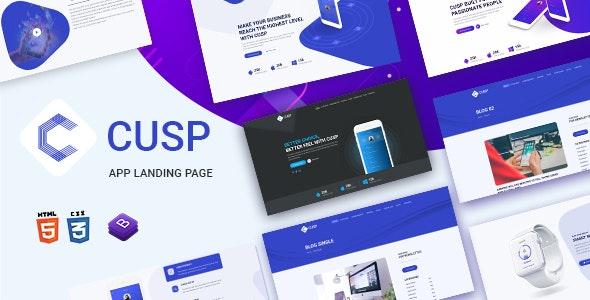 Cusp - App Landing Page - Technology Site Templates