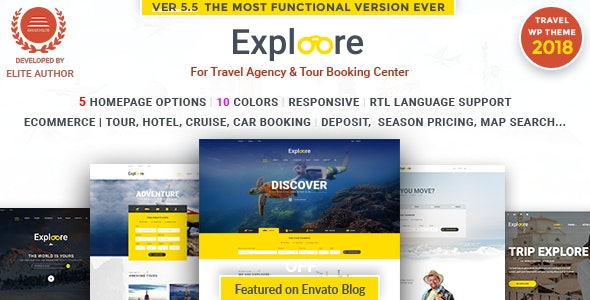 Tour Travel WordPress | EXPLOORE - Travel Retail