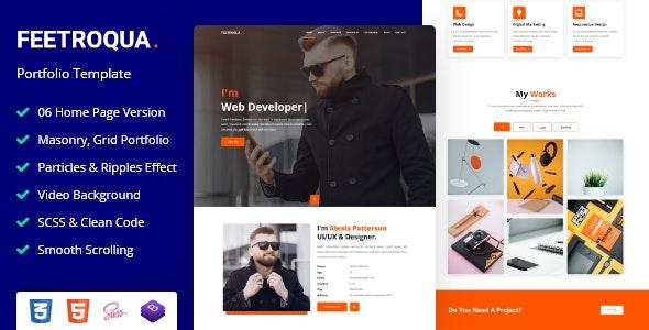 Feetroqua - Portfolio Template - Portfolio Creative