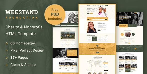 Weestand - Charity HTML Template - Charity Nonprofit