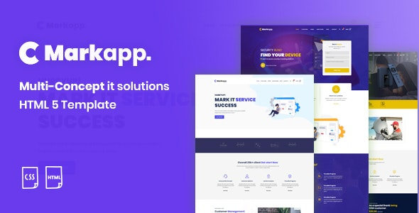 MarkApp HTML5 Modern Multipurpose Business and Corporate Template - Corporate Site Templates