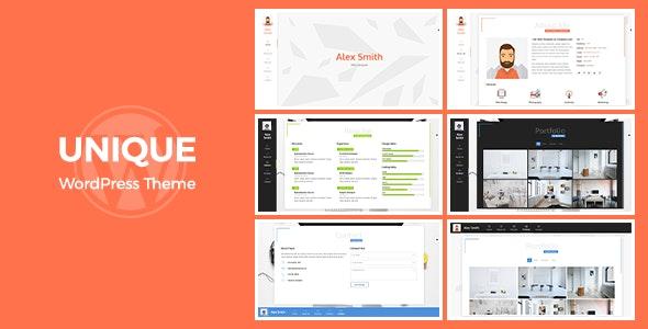 Unique | Resume CV Theme - Portfolio Creative