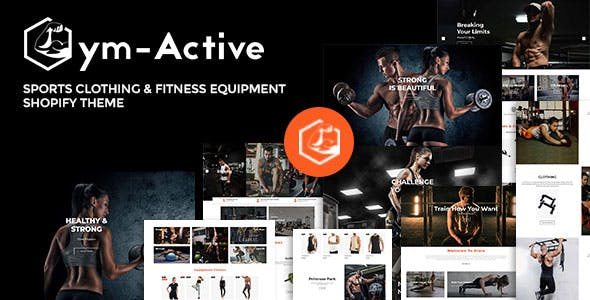 Gym Active - Sports Clothing & Fitness Equipment Shopify Theme