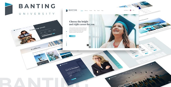 Banting University - Educational Site Template - Business Corporate