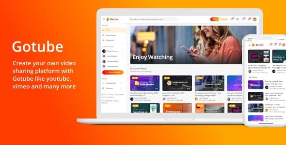 Gotube - A Video Sharing HTML Template - Entertainment Site Templates