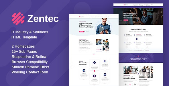 Zentec - IT Solutions and Services Company Template - Marketing Corporate