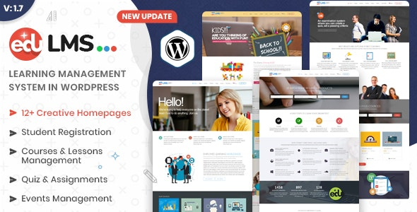 EduLMS - WP Learning Management System Theme - Education WordPress