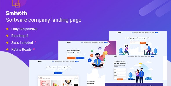 Smooth Software Company Landing Page - Software Technology