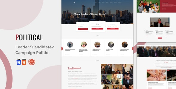 Html for Leader/Candidate/Campaign Politic - Bootstrap 4 | Political - Political Nonprofit