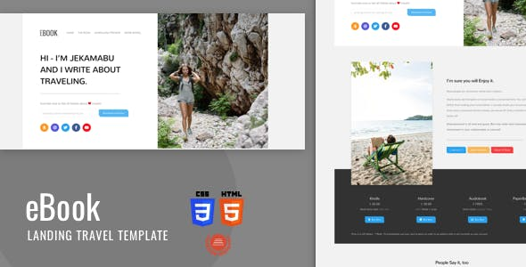 Ebook - Html5 Landing Template With Bootstrap 4