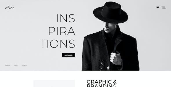 Afkar - Creative Agency & Portfolio PSD Template