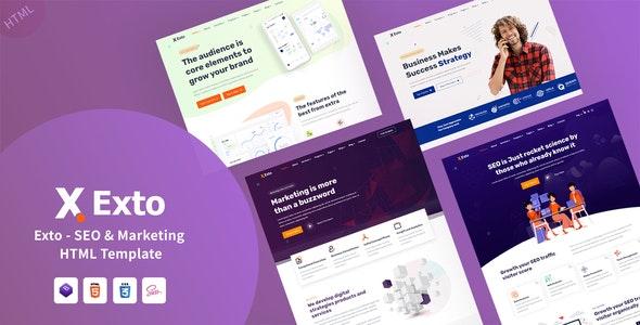 Exto - SEO & Marketing HTML Template - Marketing Corporate
