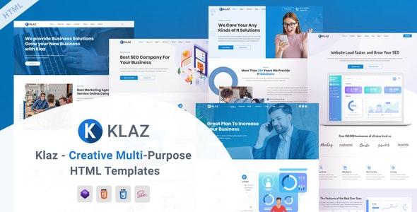 Klaz - Creative Multi-Purpose HTML Templates - Corporate Site Templates