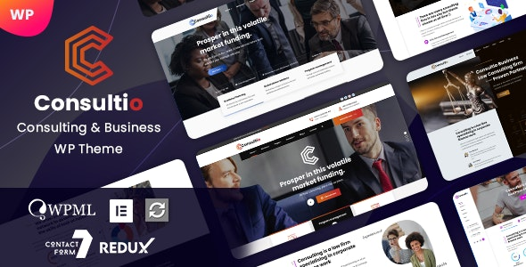 Consultio - Consulting & Business WordPress - Business Corporate