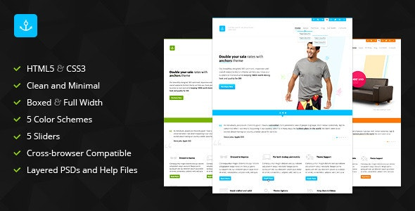 Anchors - Clean Portfolio and Business Template - Creative Site Templates