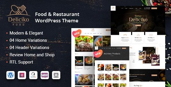 Deliciko - Restaurant WordPress Theme - Restaurants & Cafes Entertainment