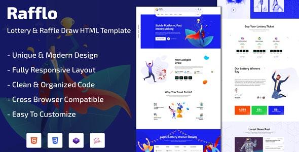 Rafflo - Lottery & Raffle Draw HTML Template - Business Corporate