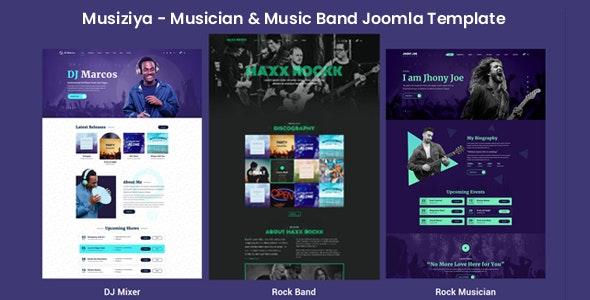 Musiziya - Musician & Music Band Joomla Template - Music and Bands Entertainment