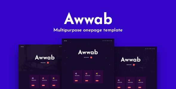 Awwab - Multipurpose HTML5 Onepage Template - Corporate Site Templates