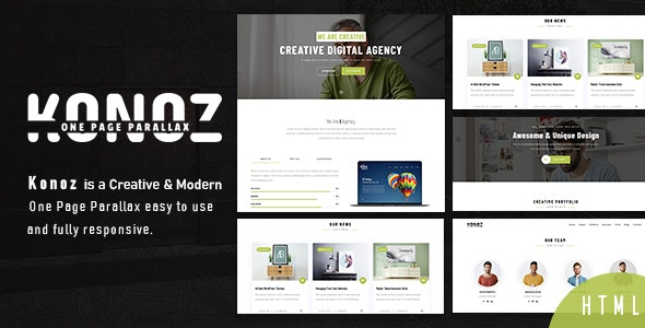 Konoz - One Page Parallax - Business Corporate