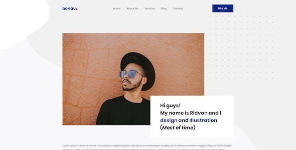 Benav - Personal Portfolio PSD Template