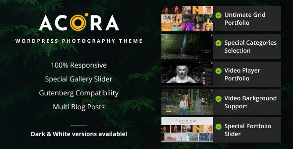 Acora - Photography WordPress Theme - Photography Creative
