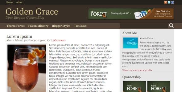 Golden Grace for Blogger - Blogger Blogging