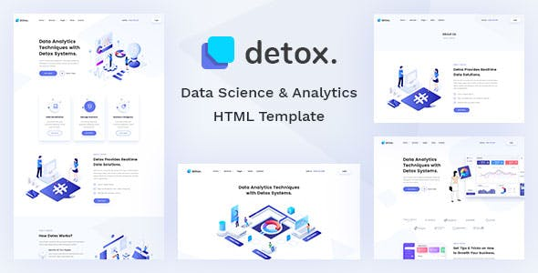 Detox - Data Science & Analytics HTML Template