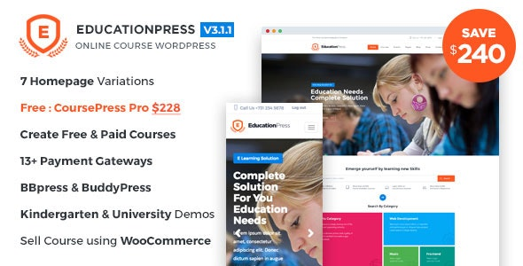 EducationPress - Complete Education WordPress Theme - Education WordPress