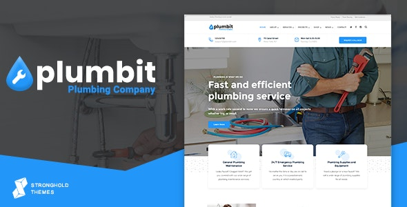Plumbit - Plumbing WordPress Theme - Business Corporate