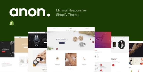 Anon - Minimal Responsive Shopify Theme - Fashion Shopify