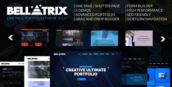 Bellatrix | WordPress Portfolio Theme - Shutter One Page - Portfolio Creative