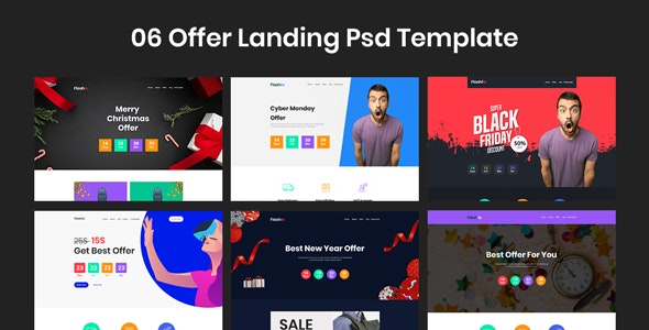 Flashio - Offer Landing Page PSD Template - Marketing Corporate