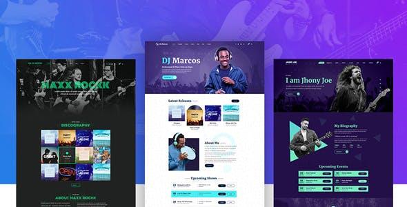 Musiziya - Musician Band WordPress Theme